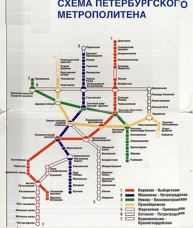 Схема перспектив метрополитена