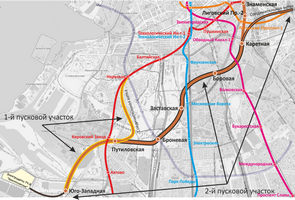 Трассировка линии на карте города